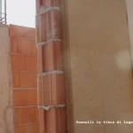 Un particolare della posatura dei pannelli in fibra di legno eseguito dall'Impresa Edile Baraldo di Thiene, Vicenza
