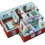 La ventilazione meccanica controllata si occupa di purificare l'aria stantia all'interno della casa e di renderla pulita e respirabile